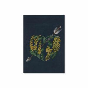 carte-simple-coeur-mimosa