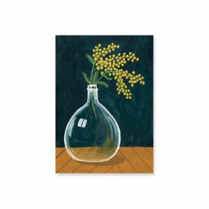 carte-simple-dame-jeanne-et-mimosa