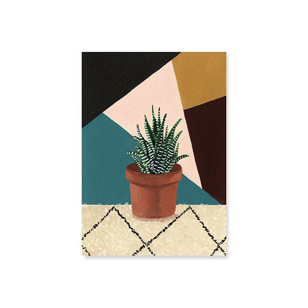 "Mélanie Voituriez, Art + Illustration I Carte postale ""haworthia"""