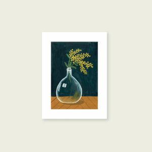 tirage-art-dame-jeanne-et-mimosa